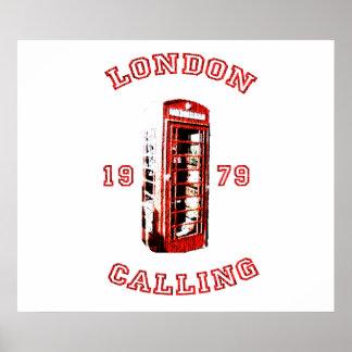 Londres que llama 1979 póster