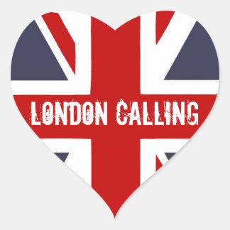 Londres que llama a los pegatinas pegatinas de corazon personalizadas
