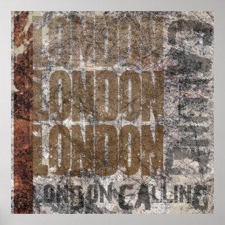Londres que llama el poster gráfico del diseño del