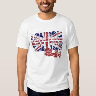 Londres que llama las camisetas playera