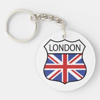 Londres (Reino Unido) Llavero Redondo Acrílico A Doble Cara