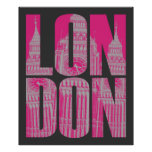 Londres rosado poster