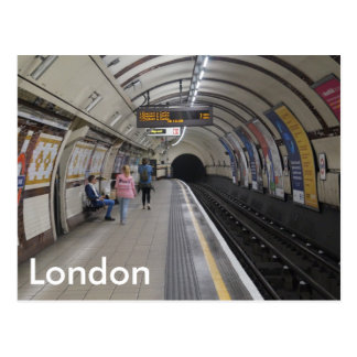 Londres subterráneo - postal
