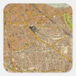 Londres suroriental pegatina cuadrada