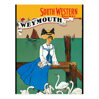 Londres Weymouth ferroviario occidental del sur Tarjeta Postal