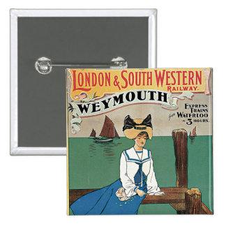 Londres y ~ al sudoeste Weymouth Pins