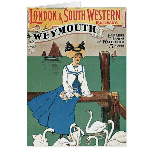 Londres y ~ al sudoeste Weymouth Tarjeta De Felicitación