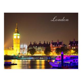 Londres y postal de Big Ben
