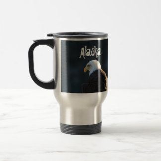 Lone Bald Eagle; Alaska Travel Mug