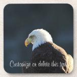 Lone Bald Eagle; Customizable Coaster