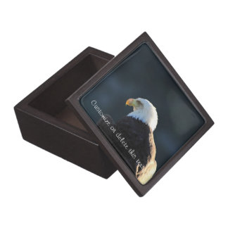 Lone Bald Eagle; Customizable Jewelry Box