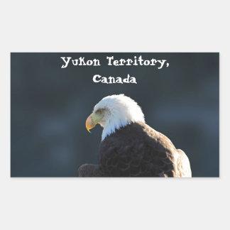 Lone Bald Eagle; Yukon Territory, Canada Rectangular Sticker