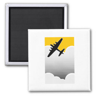Lone Bomber 2 Inch Square Magnet