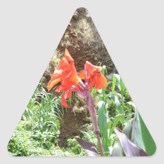 Lone Canna Lily Triangle Sticker