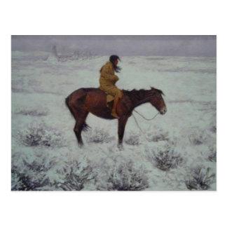 Lone Cold Brave Postcard