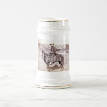 Lone Cowboy Beer Stein