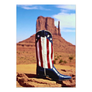 Lone cowboy boot, Monument Valley, Arizona, U.S.A. 5x7 Paper Invitation Card