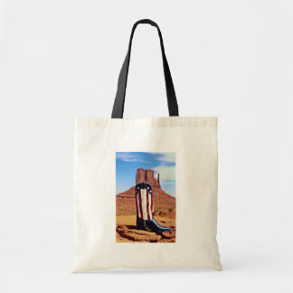Lone cowboy boot Monument Valley Arizona U S A Tote Bags