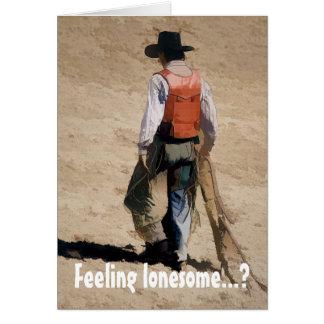 Lone Cowboy Card