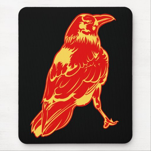 Lone Crow Illustration Mouse Pad