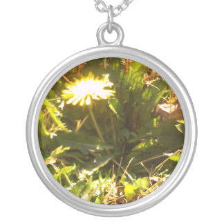 Lone Dandelion Necklace
