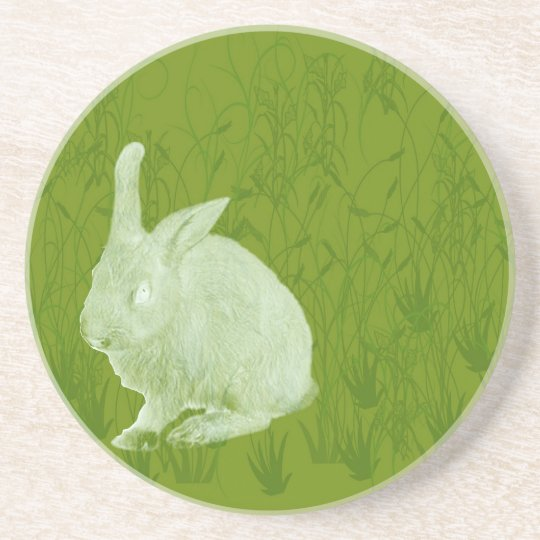 Lone Easter Rabbit Drink Coaster