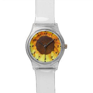 Lone Fiery Sunflower Wristwatch