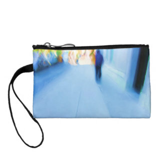 Lone Figure NYC Abstract Coin Wallet