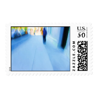 Lone Figure NYC Abstract Postage