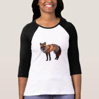 Lone Fox Women's 3/4 Sleeve Raglan Shirt