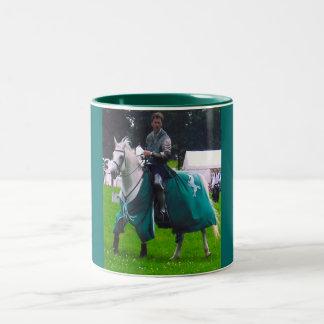 lone knight Two-Tone coffee mug
