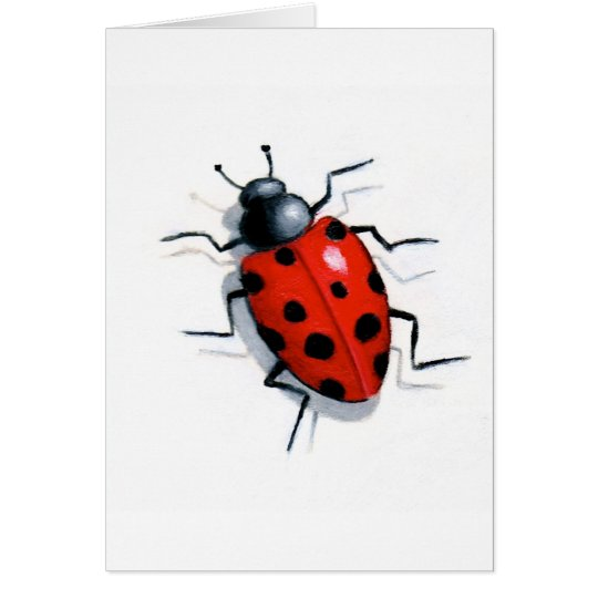 LONE LADYBUG in OIL Card