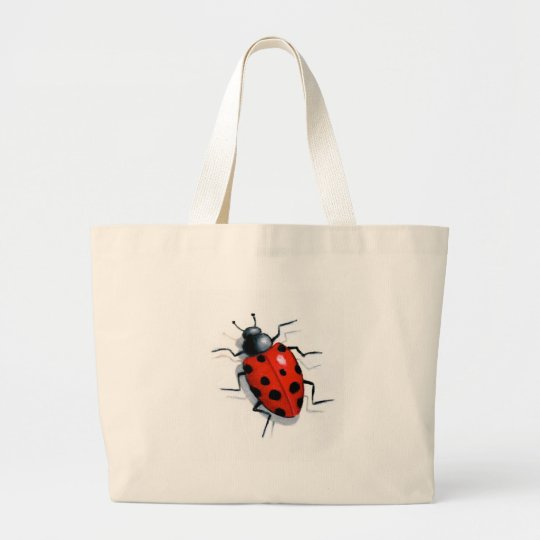 LONE LADYBUG in OIL Large Tote Bag