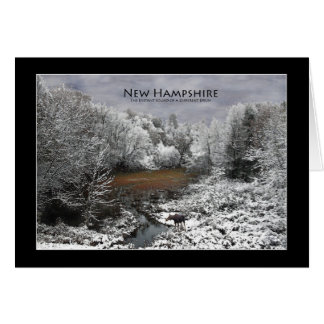 Lone Moose on a Snowy Oxbow New Hampshire Card