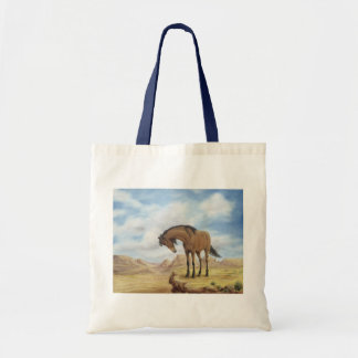 Lone Mustang Canvas Tote