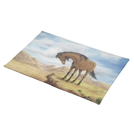 Lone Mustang Placemat Cloth Place Mat