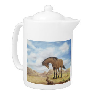 Lone Mustang Teapot