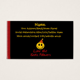 Lone Nut Seeks Followers Business Card