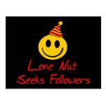 Lone Nut Seeks Followers Postcard
