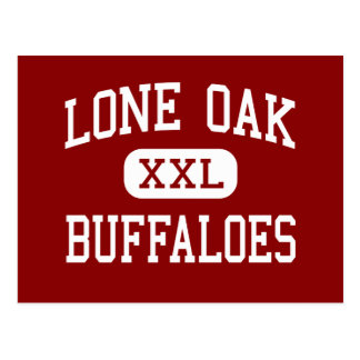 Lone Oak - Buffaloes - High - Lone Oak Texas Postcard