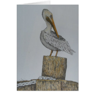 Lone Pelly Greeting Card