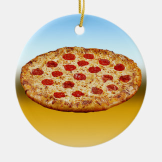 Lone Pizza - multi products Ceramic Ornament