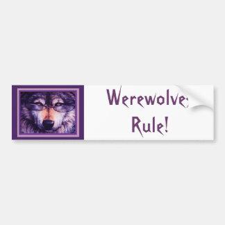 Lone Purple Wolf Bumper Sticker