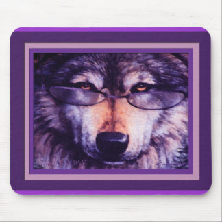 Lone Purple Wolf Mouse Pad