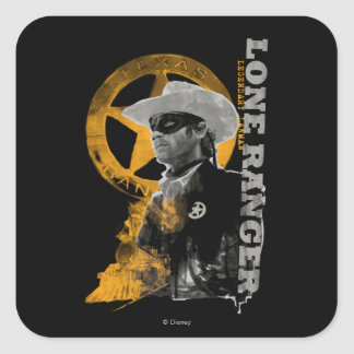 Lone Ranger  4 Square Sticker