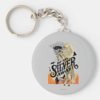 Lone Ranger and Silver - Hi - Yo Silver! Away! Basic Round Button Keychain
