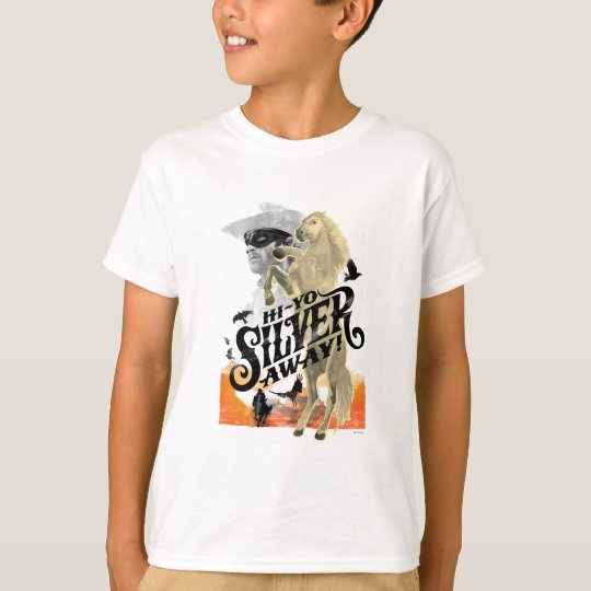 Lone Ranger and Silver - Hi - Yo Silver! Away! T-Shirt