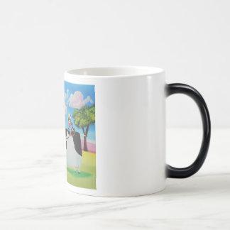 Lone ranger cats and sheep painting magic mug