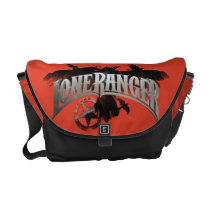 Lone Ranger - Crows and Badge 2 Courier Bag at Zazzle