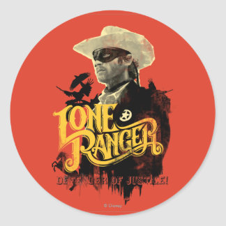 Lone Ranger - Defender of Justice! 2 Classic Round Sticker